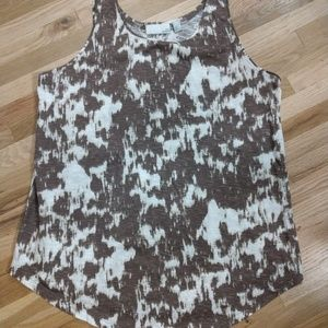 NWOT Brown and white tank top